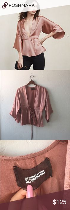 Worn once reformation top In perfect condition Reformation Tops