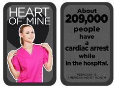 About people have a cardiac arrest while in the hospital. Heart Disease Facts, Dental Scrubs, Same Day Delivery Service, Heart Month, Lab Coats, Nursing Dress, Wear Red, People, Life
