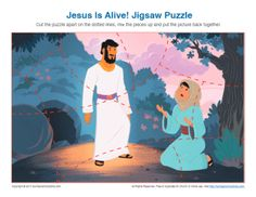 Jesus Is Alive! Resurrection Jigsaw Puzzle on Sunday School Zone Bible Activities For Kids, Sunday School Activities, Jesus Tomb, Jesus Is Alive, Easter Story, Jesus Resurrection, Kids Church, Bible Lessons, Montessori