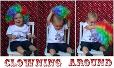 Find clown accessories such as red noses, bow ties, orange or yellow wigs and white gloves. Take pics of the birthday boys and party guests wearing it!