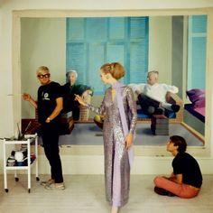 David Hockney, Peter Schlesinger and Maudie James