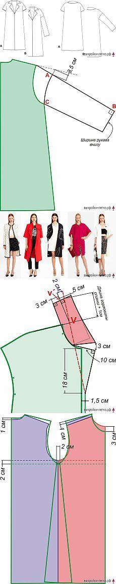 Выкройка летнего пальто   Выкройки онлайн и уроки моделирования
