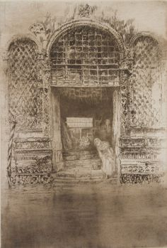 James McNeill Whistler - The Doorway Etching and drypoint on paper James Abbott Mcneill Whistler, National Gallery Of Art, Art Gallery, Freer Gallery, Techno, Google Art Project, Art Society, Doorway, Paris