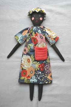 ESZTERDA, handmade doll, reminds me of south africa and I love it Softies, Fabric Dolls, Paper Dolls, Rag Dolls, Sewing Dolls, Doll Maker, Soft Dolls, Soft Sculpture, Diy Doll