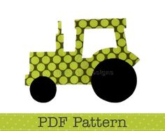 Tractor Applique Pattern, PDF Template, Applique Designs, Farm, Boy | AngelLeaDesigns - Craft Supplies on ArtFire