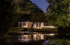 serene atmosphere of pavillion and surround area at night