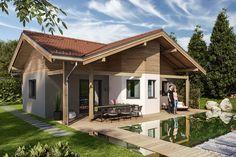 Földszintes házak, készház, készházak, keszhazak, családi házak Bungalows, Exterior, Outdoor Decor, Alter, Home Decor, House Ideas, Dreams, Animals, Types Of Construction