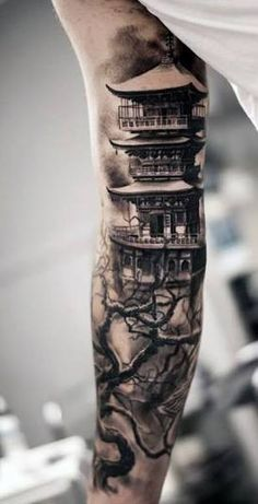 Resultado de imagem para tatuagens de templos samurais