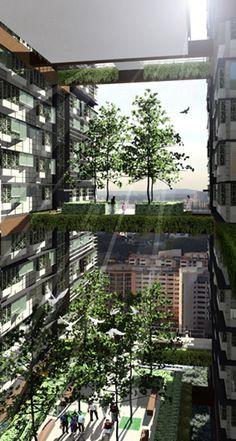 Duxton Plain Housing Competition, Singapore / WOHA