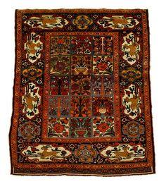 Bakhtiari rug   southwest persia, circa 1920-30    6 ft. 4 in. x 4 ft. 10 in.  - FREEMAN'S