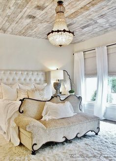 white wash wood ceiling
