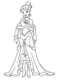 This beautiful tiana the princess coloring page from princess and the frog coloring pages is perfect for kids, who will appreciate it. Description from kidsfreecoloring.net. I searched for this on bing.com/images