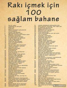 Rakı içmek için 100 sağlam bahane - Bilge Aknam - buyukkeyif.com