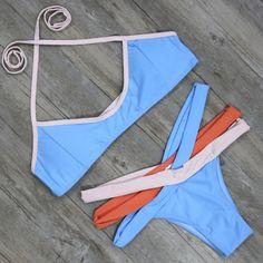 Bikini Swimwear Swimsuit Women Biquini Push Up Brazilian Bikini Set Femme Beachwear Bathing Suit Swim Wear Cute Bikinis, Summer Bikinis, Swimming Outfit, Brazilian Bikini, Bikini Fashion, Bikini Swimwear, Women Swimsuits, Bathing Suits, Swimwear