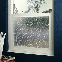 Non adhesive frosted window film static cling privacy for Bathroom remodel 76244