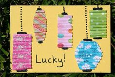 Paper Lantern Collage. So easy, but all folding will keep them busy!