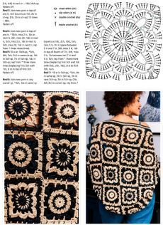 Patterns And Motifs: Crocheted Motif No. Motifs Granny Square, Granny Square Crochet Pattern, Crochet Stitches Patterns, Crochet Squares, Crochet Motif, Crochet Flowers, Free Crochet, Knitting Patterns, Granny Squares