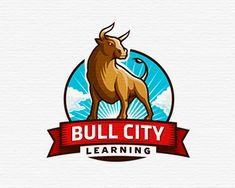 Awesome bull logo.  Bull City Learning by Nagual