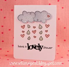 Adorable shower card by Elise! Whimsipost: Happy Shower! _ Lawn Fawn - Bon Voyage, Plus One