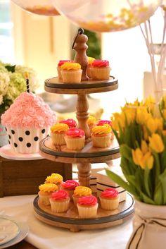 Pedestal of cupcakes