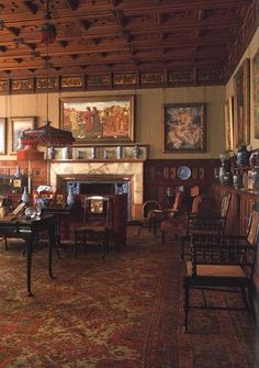 Craigside ~ Library. Rothbury, Northumberland interior. Estate of Lord William Armstrong.