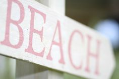 Preppy Pink Crab Birthday Party - love the beach sign  :)
