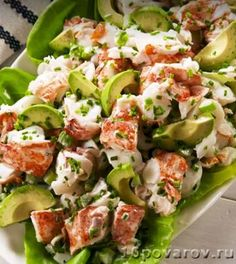 Lobster Salad Lobster rolls make for an epic summer meal but the truth is you dont really need the split top hot dog buns Or melted butter Lightly dressed with mayo and f. Lobster Recipes, Fish Recipes, Seafood Recipes, Dinner Recipes, Cooking Recipes, Healthy Recipes, Italian Seafood Salad Recipe, Sea Food Salad Recipes, Seafood Appetizers