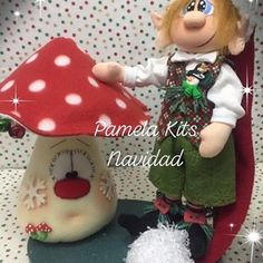Navidad🎄🎄🎄 #muñecosnavideño#hechoamano#ceramicaenfrio#chile Christmas Sewing, Christmas Projects, Nylons, Elves, Diy And Crafts, Projects To Try, Presents, Snoopy, Kit