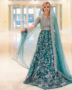 Dulhan Dress, Walima Dress, Mehndi Dress, Pakistani Dresses Casual, Pakistani Wedding Dresses, Bridal Outfits, Bridal Dresses, Mehndi Brides, Light Blue Dresses