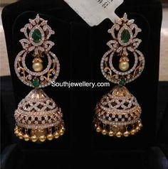 Diamond earrings latest jewelry designs - Page 2 of 53 - Indian Jewellery Designs Diamond Earrings Indian, Diamond Jewelry, Gold Jewelry, Diamond Necklaces, Tiffany Jewelry, Jewelry Rings, Vintage Jewelry, Jewelry Design Earrings, Gold Earrings Designs