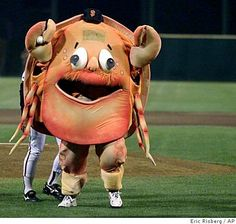 SF Giants Did you know they had a The Crazy Crab mascot?  WTF?