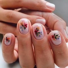 Spring comes and everything recovers. Do you want to change your nail art? Change to a flower nail to bring a little vitality to life. Spring Nail Art, Winter Nail Art, Winter Nail Designs, Colorful Nail Designs, Spring Nails, Nude Nails, White Nails, Acrylic Nails, Flower Nails