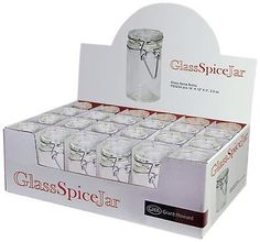 Grant-Howard-50520-3-06-Ounce-Cylindrical-Clear-Glass-Spice-Jar-Set-of-24-New