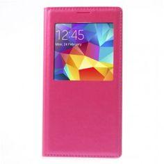Galaxy S5 pinkki S-View suojakuori