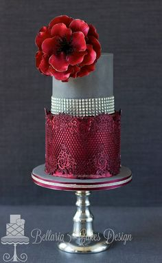 Bellaria Cakes Design with Glam Ribbon border