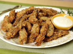 Try this recipe for Portobello 'Fries' with Garlic Mayo from Kimberly's Simply Southern featured on GAC!