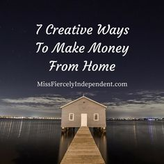 7 Creative Ways To Make Money From Home   #business #workfromhome Female Blogger RT