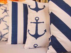 Throw Pillows Nautical Decorative Beach Cushion by SeamsToMe23, $68.00