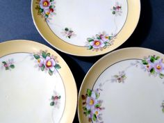 Vintage Meito China Plates Bread and Butter // Set Three // 1920s Collectible Antique Dining Serving Wedding Shabby Cottage Decor  Tea Party by SueEllensFlair on Etsy