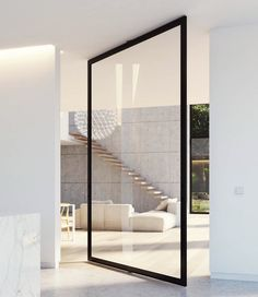 PORTAPIVOT specializes in high-end door hardware such as innovative pivot hinges and self-assembly kits for room dividers. E-shop with worldwide shipping. Home Interior Design, Interior Architecture, Interior And Exterior, Pivot Doors, Sliding Doors, Le Hangar, My New Room, Modern House Design, Door Design