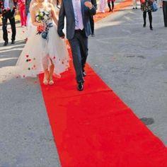 16ft Celebrity Floor Runner Red Carpet Party Wedding Disposable Scene Decoration #Unbranded