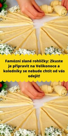 Nibbles For Party, Czech Recipes, Wrap Sandwiches, Bread Rolls, Sweet Desserts, Finger Foods, Yummy Treats, Food And Drink, Croissant