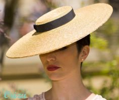 Sewn straw picture hat. #millinery #judithm #hats