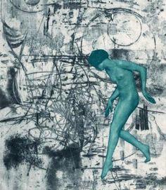 Vladimír Boudník - XXXV Explosionalism (1956)  #art #graphics #Czechia