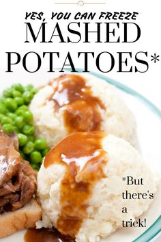 Yes, you can freeze mashed potatoes. They won't get grainy or mealy if you use this recipe trick. Great for preparing Thanksgiving or Christmas dinner in advance.