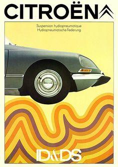 Citroen ID & DS http://www.vintagevenus.com.au/products/vintage_poster_print-tr394