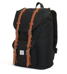 3671fbd9c85 Amazon.com | Herschel Supply Co. Little America Mid Volume, Black, One Size  | Casual Daypacks
