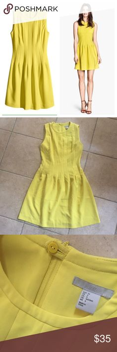 H&M yellow dress size 6 fit flare Lovely design, sweet color. Excellent condition like new. Clean and ready to ship. Size 6 (fits like Small). H&M Dresses Mini