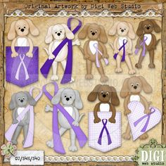 Fibromyalgia Awareness | Fibromyalgia Awareness Dogs 1 - Clip Art by Leah Rae : Digi Web Studio ...