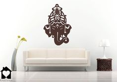Indian Elephant Wallsticker - Decorated Elephant Decal  2022